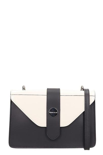 Marc Ellis Black And Beige Leather Margaret Bag