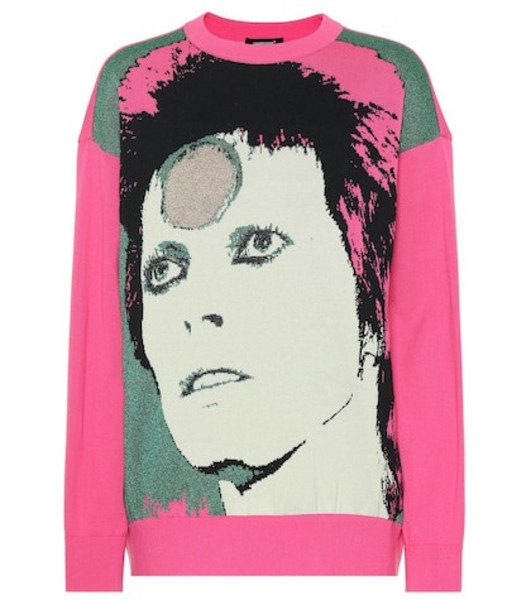 Undercover David Bowie cotton-blend sweater in pink