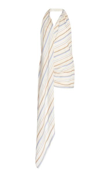 Jacquemus Spezia Striped Cotton And Linen Mini Dress Size: 38