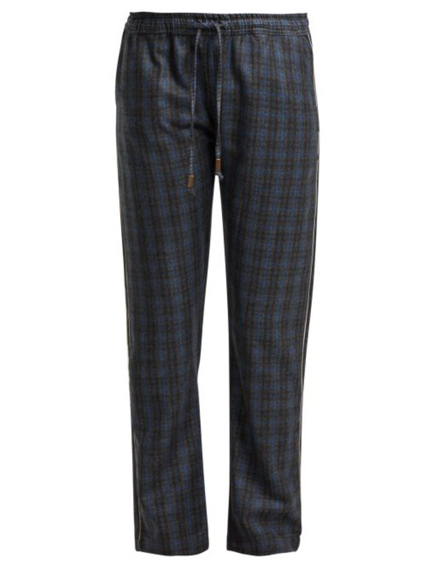 MORPHO + LUNA Morpho + Luna - Zac Checked Wool Trousers - Womens - Grey Print