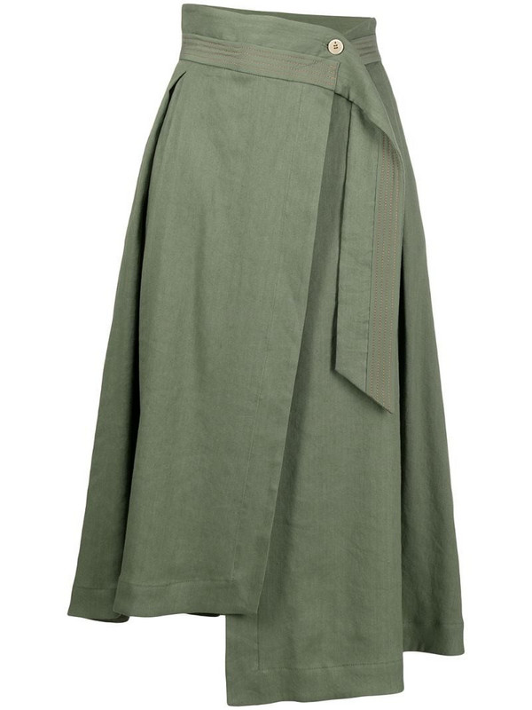 Lorena Antoniazzi high-waisted asymmetric skirt in green