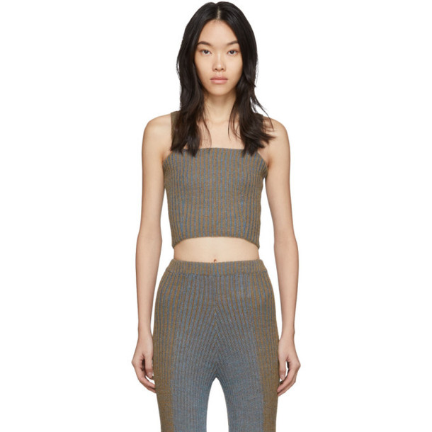 Eckhaus Latta Brown and Blue Plated Tank Top