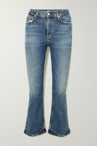 Citizens of Humanity - Demy Cropped High-rise Flared Jeans - Mid denim