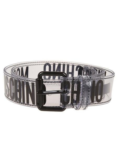Moschino Logo Print Belt