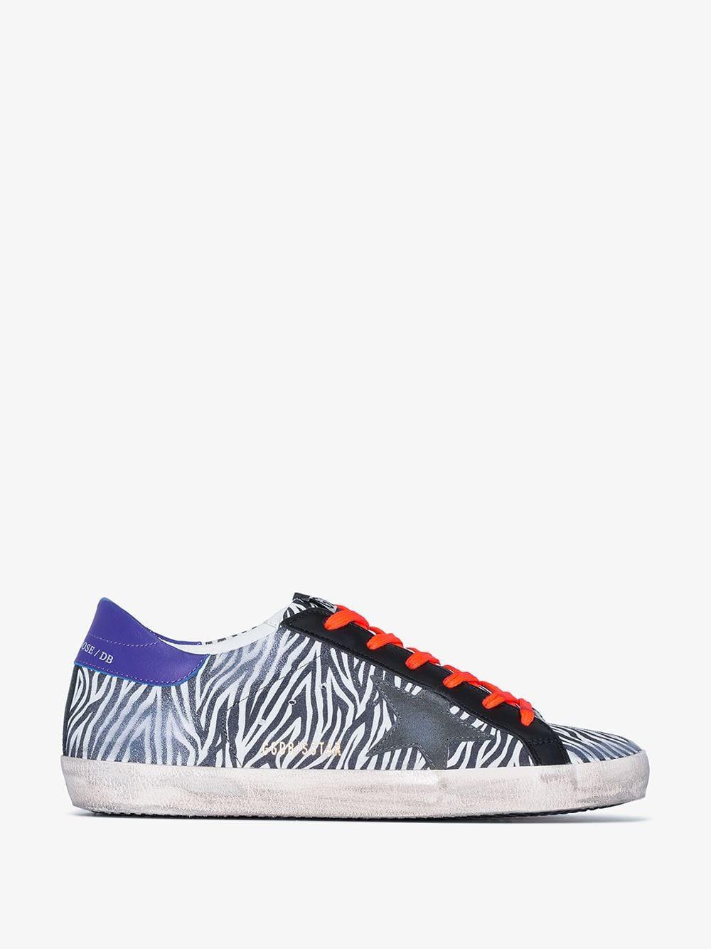 Golden Goose Deluxe Brand Golden Goose Multicoloured Superstar zebra suede leather sneakers