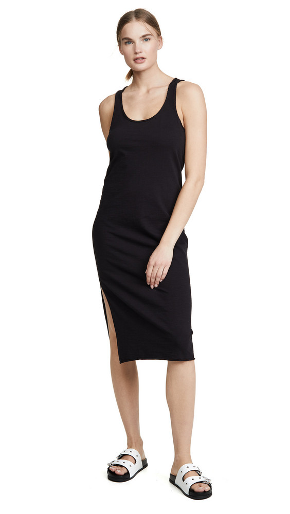 Nation LTD Valerie Side Slit Tank Dress in black