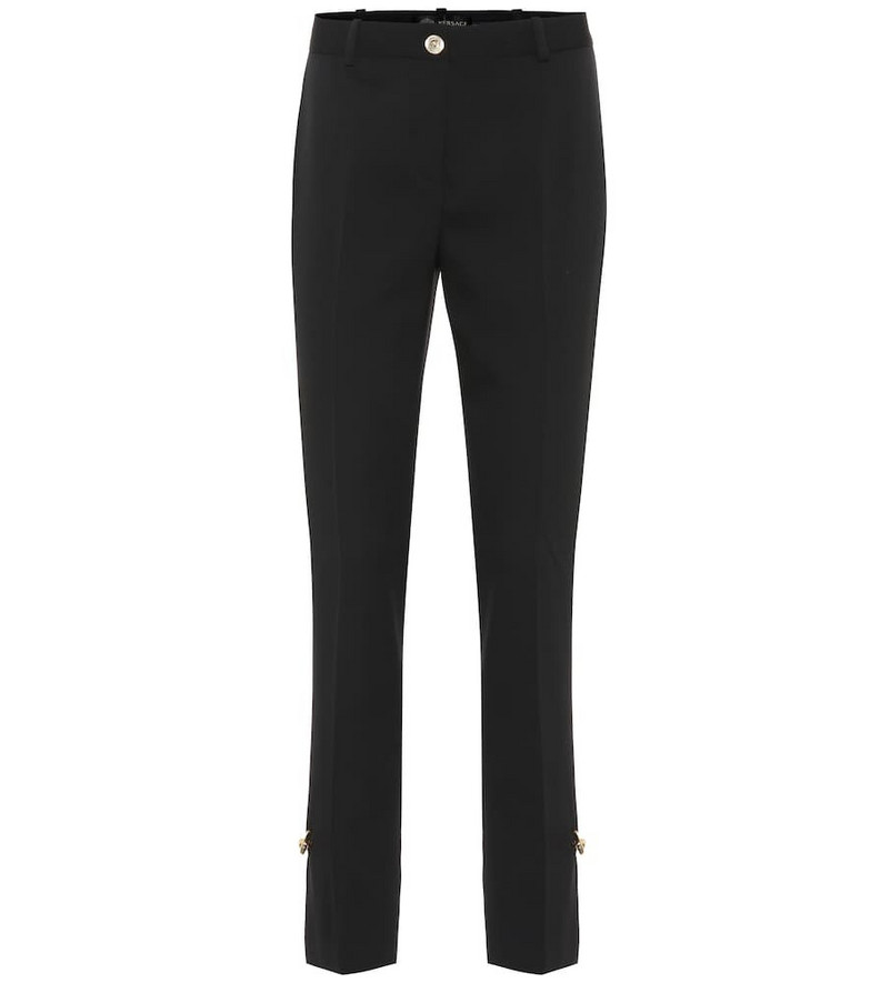 Versace Stretch wool pants in black