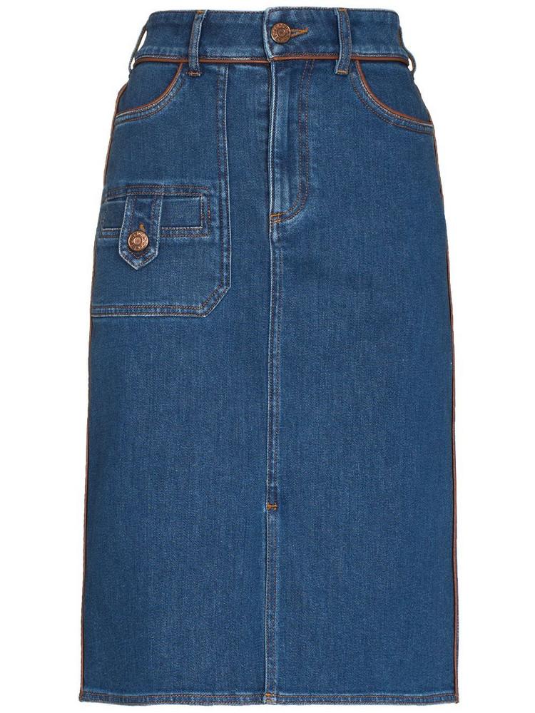 See by Chloé See by Chloé denim pencil skirt - Blue