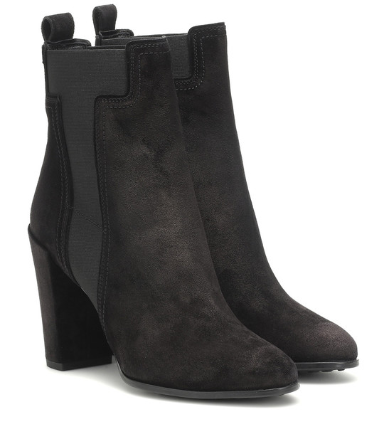 Tod's Suede ankle boots in black