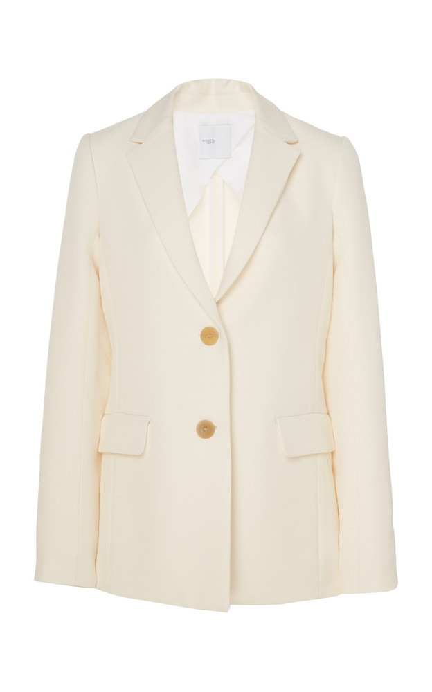 Rosetta Getty Wool-Blend Blazer Size: 0 in white