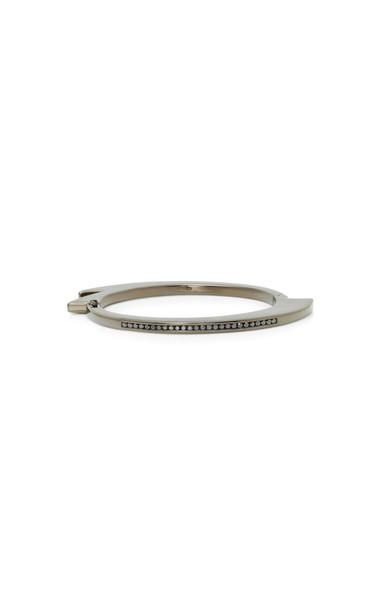 Lynn Ban Jewelry Black Rhodium Silver Diamond Bracelet
