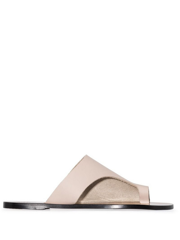 ATP Atelier Rosa leather sandals in grey