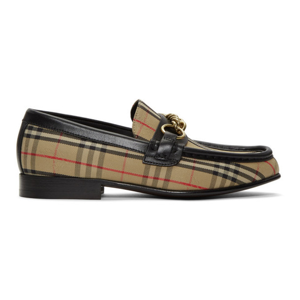 Burberry Beige 1983 Check Moorley Loafers