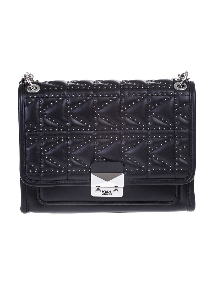 Karl Lagerfeld K / KUILTED leather bag in nero