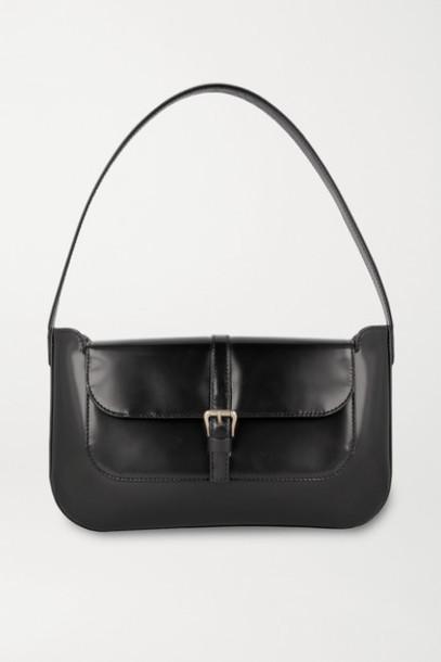BY FAR - Miranda Patent-leather Shoulder Bag - Black