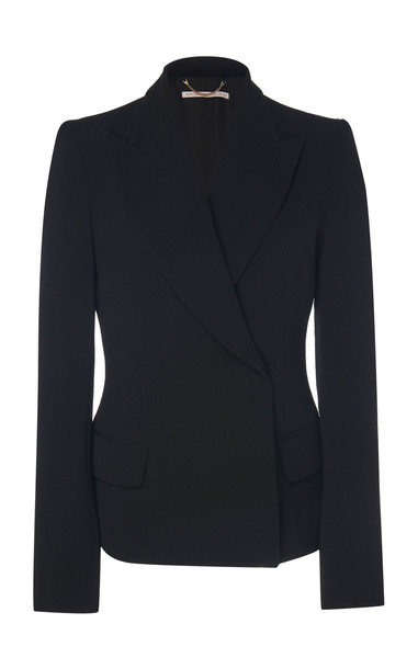 Emilia Wickstead Zoella Crepe Structured Blazer in black