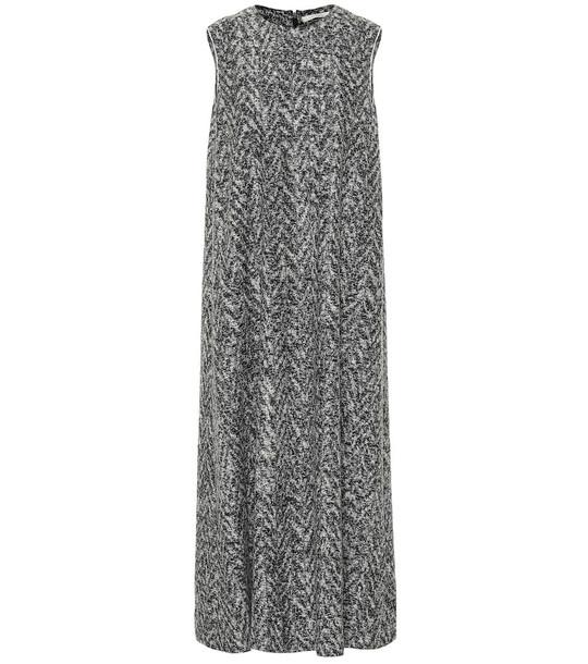 The Row Adda wool-blend midi dress in grey