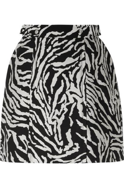 Proenza Schouler - Cotton-blend Jacquard Mini Skirt - Black