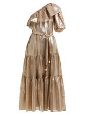 dress,midi dress,midi,gold