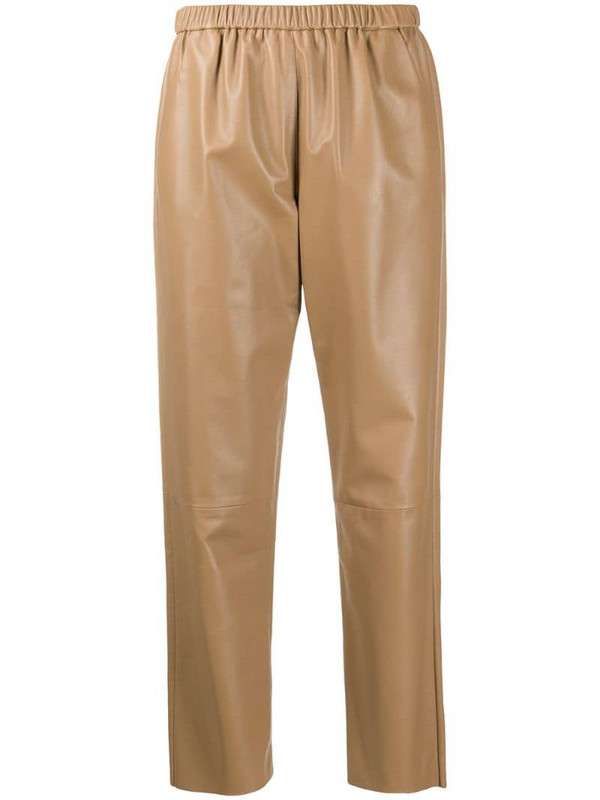 Drome high-waist cropped trousers in neutrals
