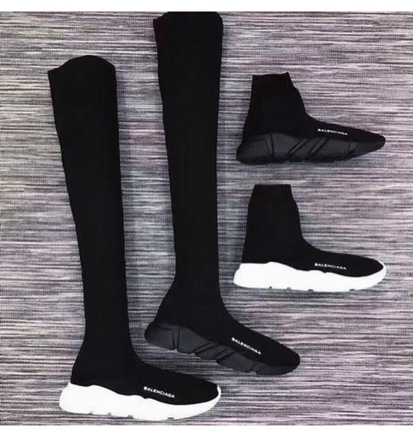 shoes black sneakers balenciaga