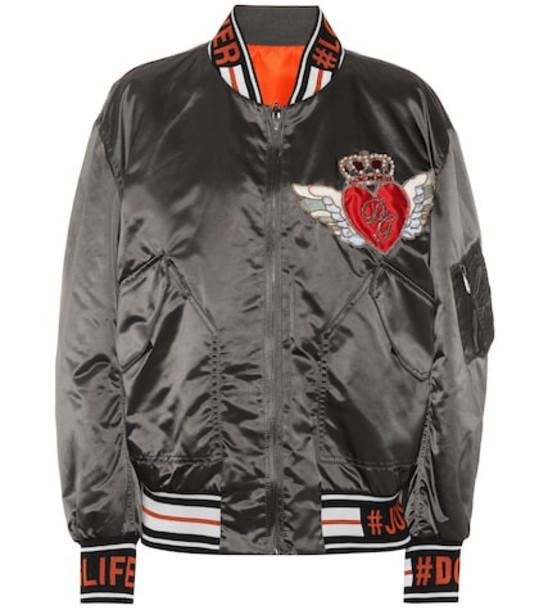 Dolce & Gabbana Reversible bomber jacket in black