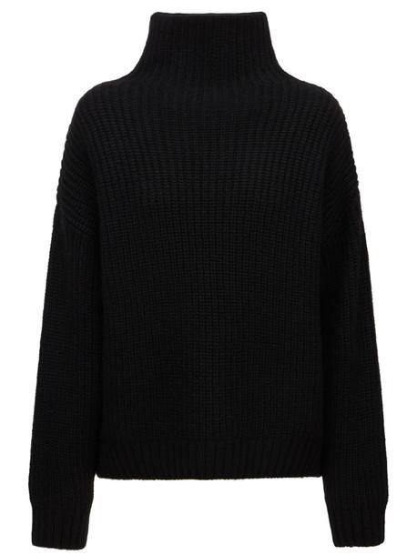 ANINE BING Sydney Alpaca Blend Turtleneck Sweater in black