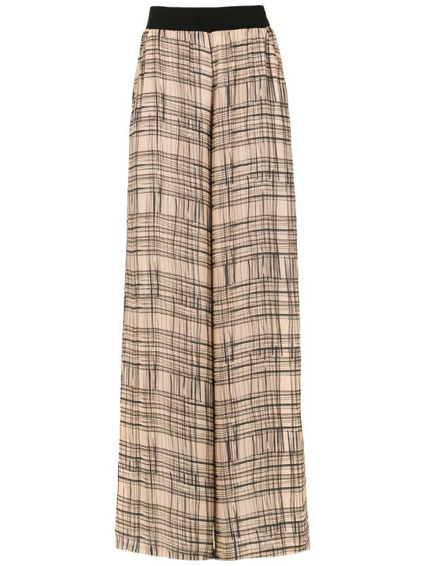 Mara Mac wide leg printed trousers in brown