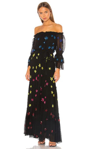 ROCOCO SAND Amos Maxi Dress in Black