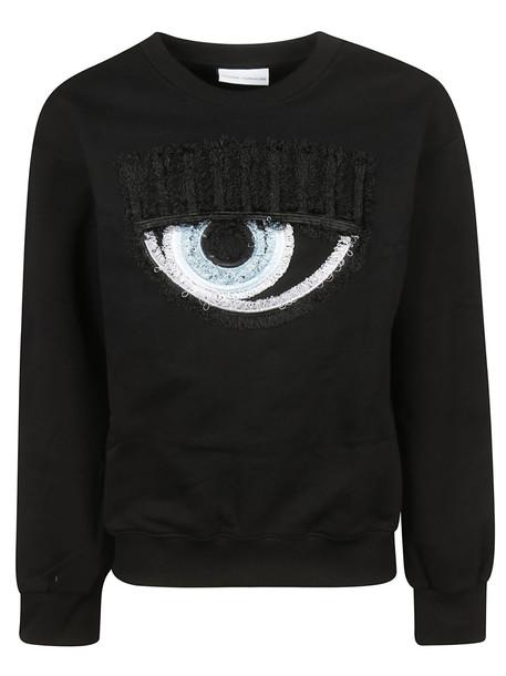 Chiara Ferragni Embroidered Sweatshirt in black