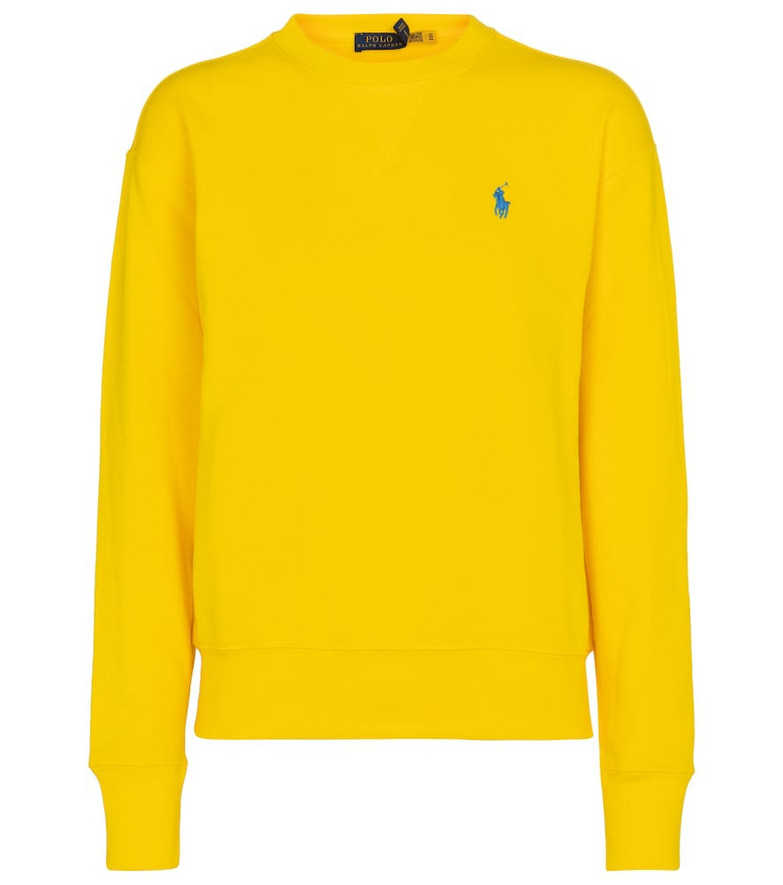 Polo Ralph Lauren Logo cotton-blend sweatshirt in yellow