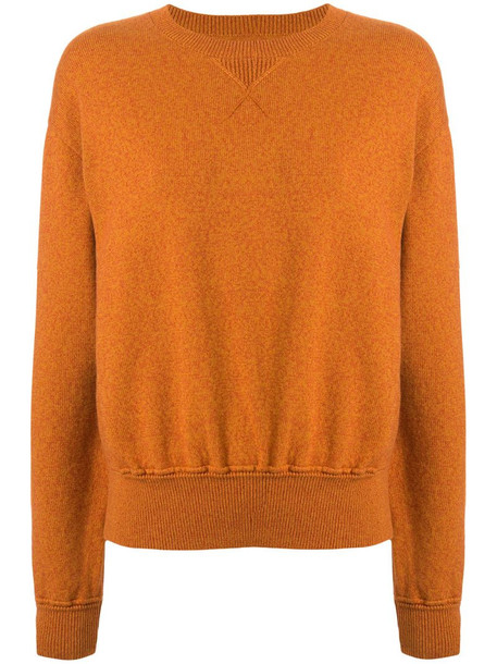 Coohem knitted crew neck jumper in brown