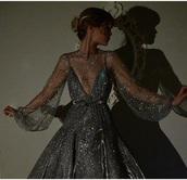 dress,silver,mesh,sheer,glitter dress,glitter,prom dress,camisole,gown