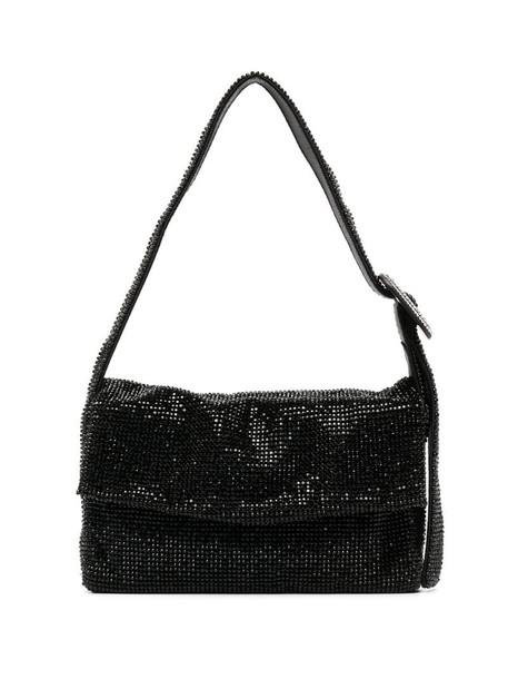 Benedetta Bruzziches crystal-embellished shoulder bag in black
