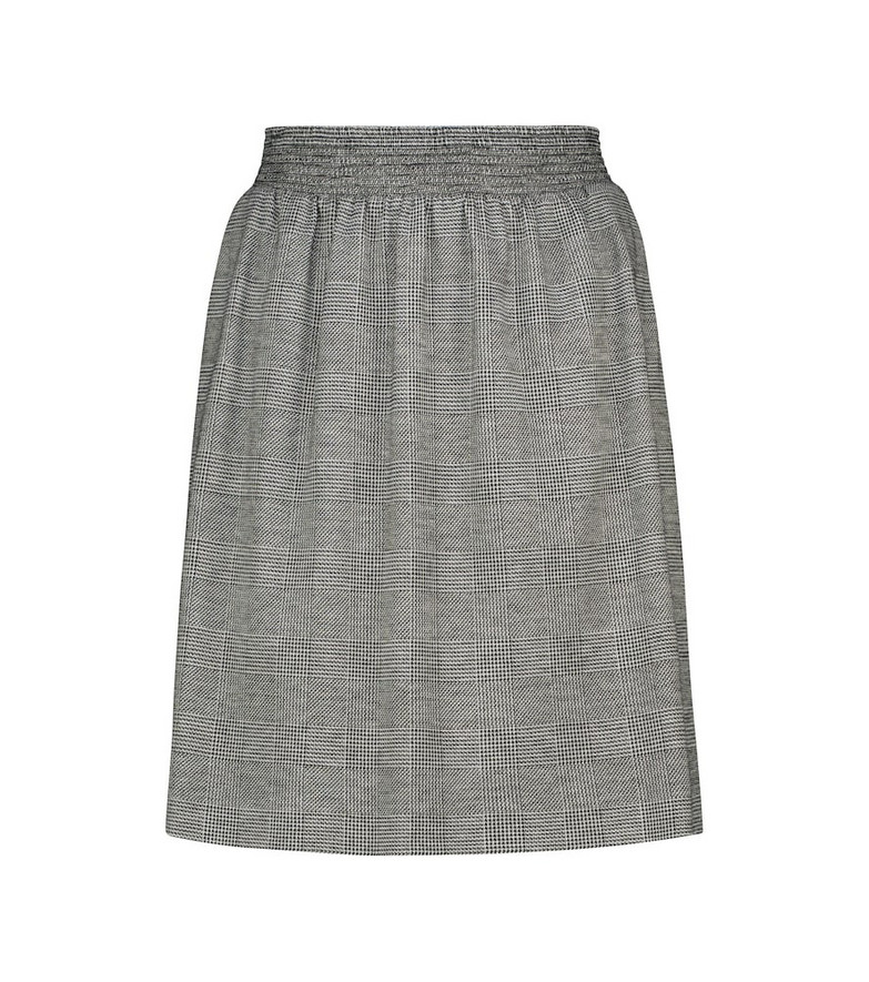 Max Mara Learco checked wool-blend miniskirt in grey