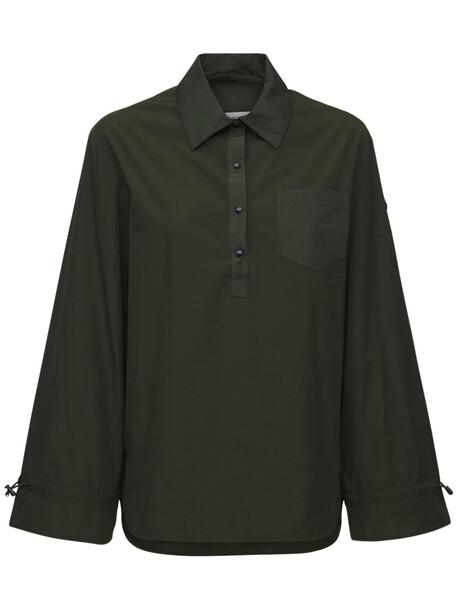 MONCLER Technical Poplin Shirt in green