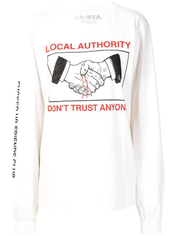 Local Authority Don't Trust Anyone T-shirt in white