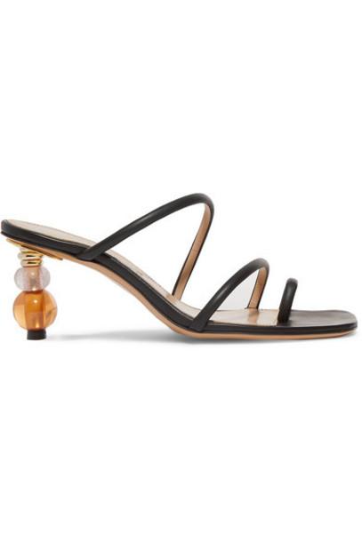 Jacquemus - Noli Leather Sandals - Black