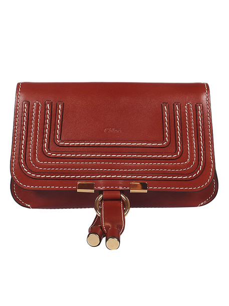 Chloé Chloé Logo Shoulder Bag in brown