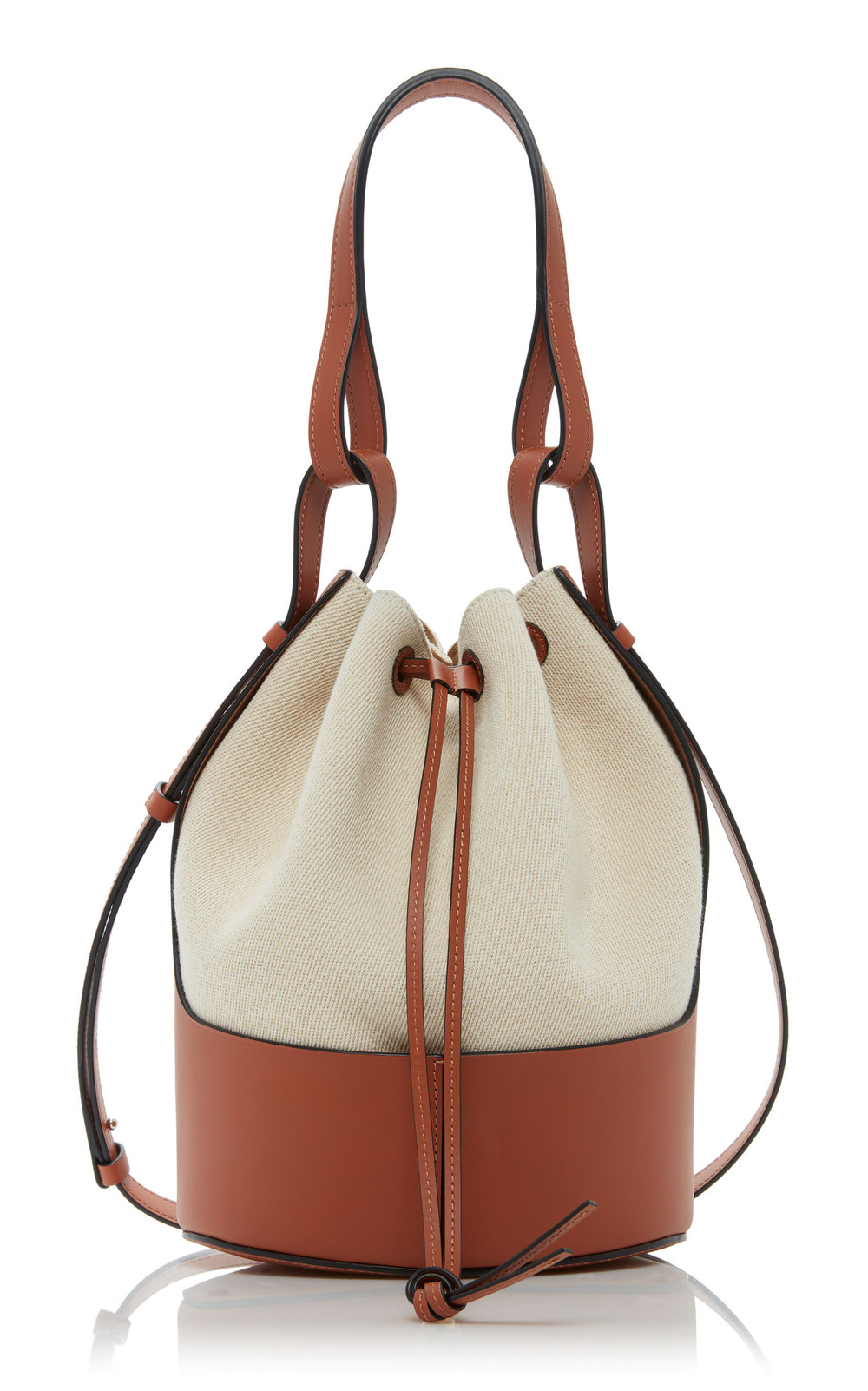 Loewe Balloon Two-Tone Canvas Shoulder Bag in white