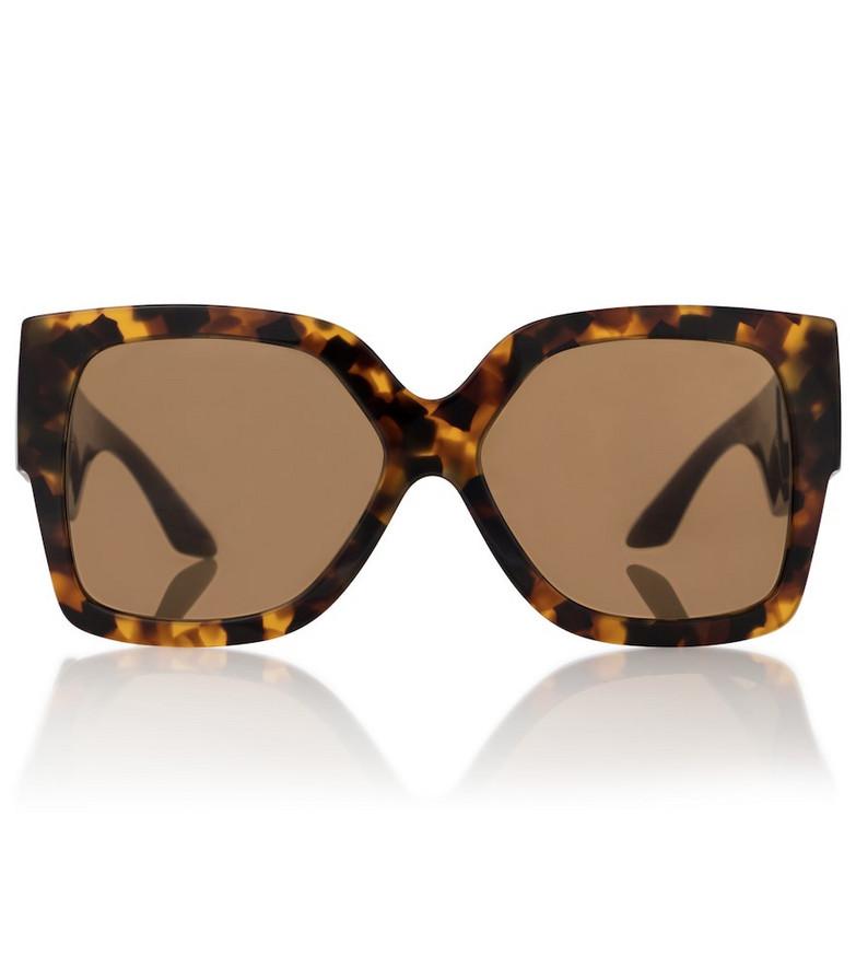 Versace Square acetate sunglasses in brown