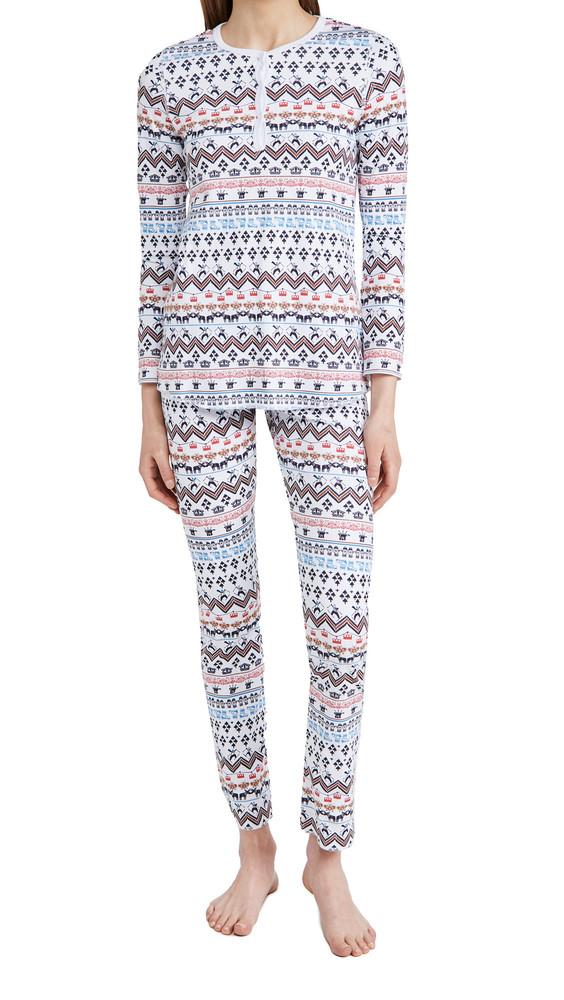 Roller Rabbit Chalet Pajamas in white