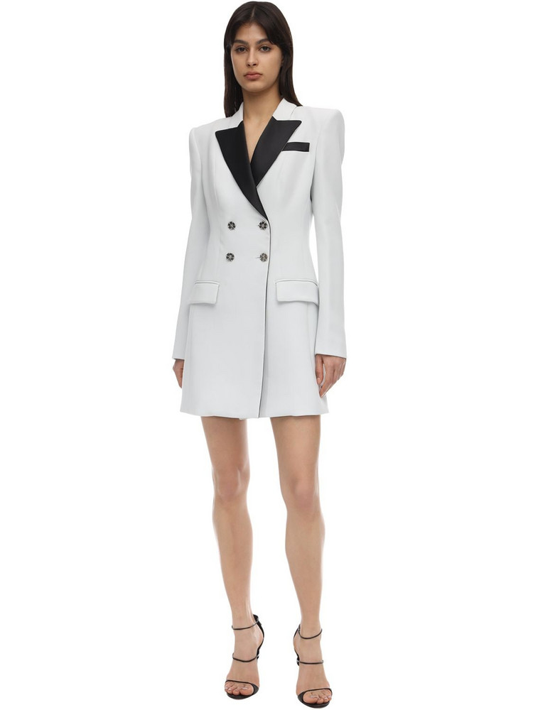 PHILIPP PLEIN Stretch Crepe Blazer Dress in white