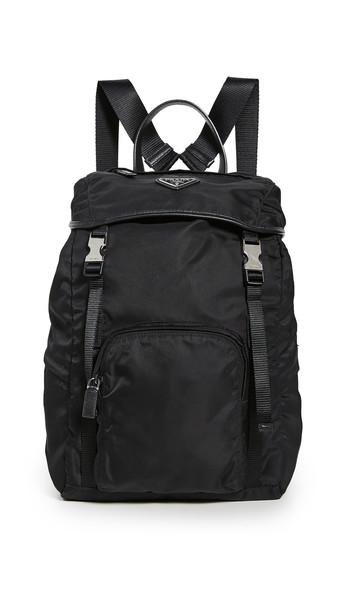What Goes Around Comes Around Prada Black Nylon Backpack