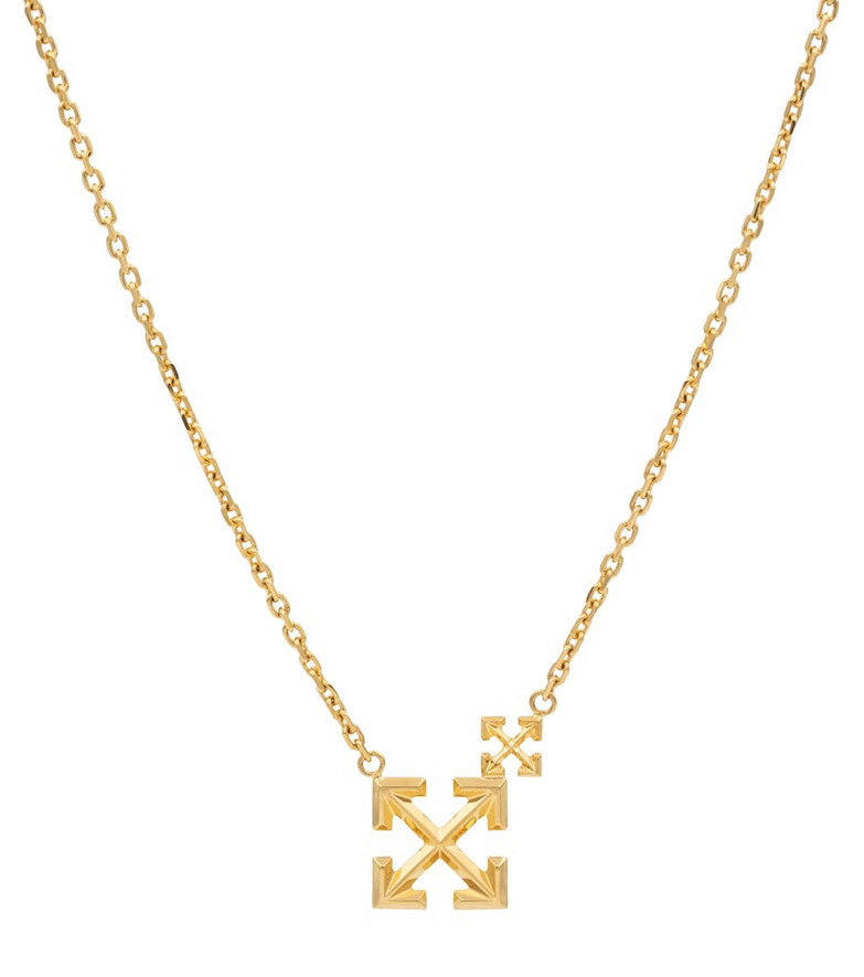 Off-White Double Arrow necklace in gold