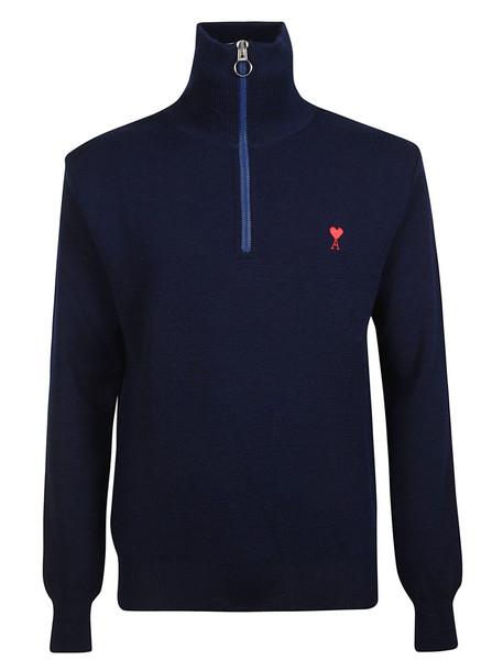 Ami Alexandre Mattiussi Logo Sweater in navy