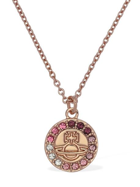 VIVIENNE WESTWOOD Claretta Pendant Necklace in gold / rose / multi