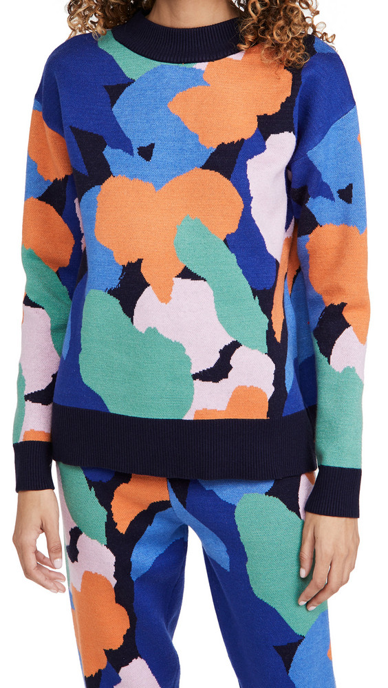 Never Fully Dressed Mara Crew Neck Knit Top in multi