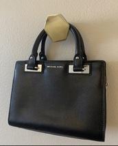 bag,black,leather,satchel,michael kors