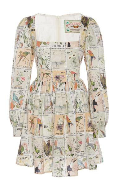 Agua by Agua Bendita Curuba Printed Linen Mini Dress Size: XS in print